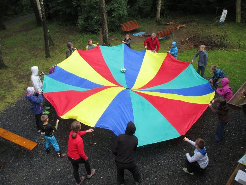 Děti na táboře Duha ZeMě